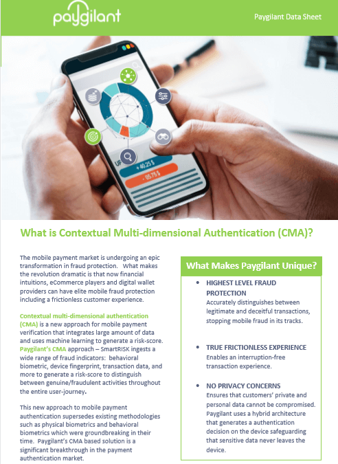What is Contextual Multi-dimensional Authentication (CMA)?