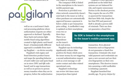 Paygilant Mentioned in The Nilson Report