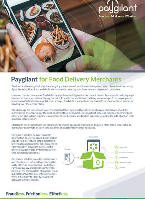 Paygilant for Food Delivery