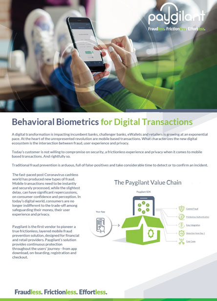 Behavioral Biometrics for Digital Transactions
